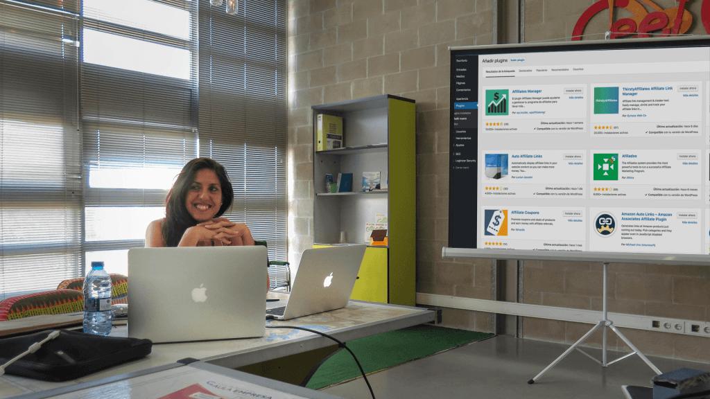 Miriam Olivares, consultora de WordPress, aprende WordPress a través de vídeo tutoriales