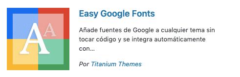 como instalar una tipografía de Google Fonts en tu página de WordPress a través de un plugin