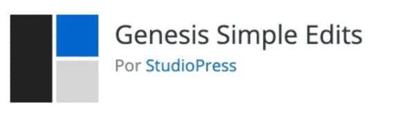 Plugin Génesis simple edits