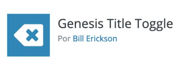 Plugin Génesis title toggle
