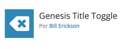 Plugin Genesis title Toggle