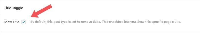 Mostrar el título o no por defecto en cada página de forma individual. En Génesis Tittle Toggle