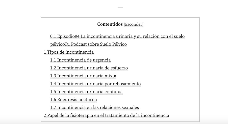 Crea índices en tus artículos o podcast con el Plugin Table of Content Plus