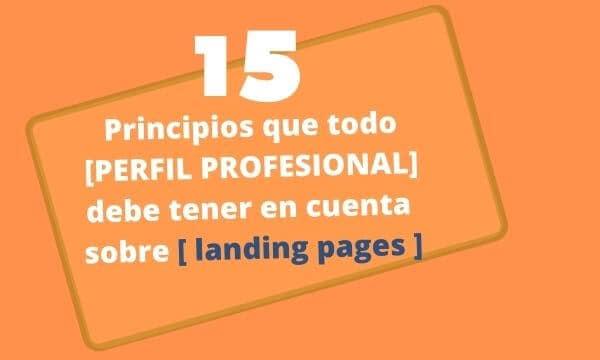 15 principios que todo [PERFIL PROFESIONAL] debe tener en cuenta sobre landing pages